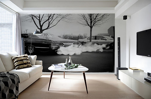 Chevy Impala Burnout Wallpaperl Mural 10' x 8' by Timothy White
