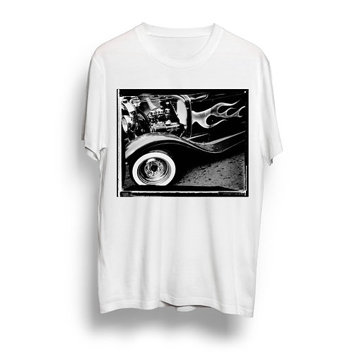 """""""Flame Job"""" Hot Rod T-Shirt by Timothy White"""