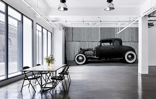 Hot Rod Wallpaper Mural 12' X 8' by Timothy White