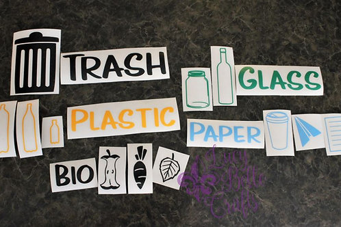 Waste Receptacle Decals