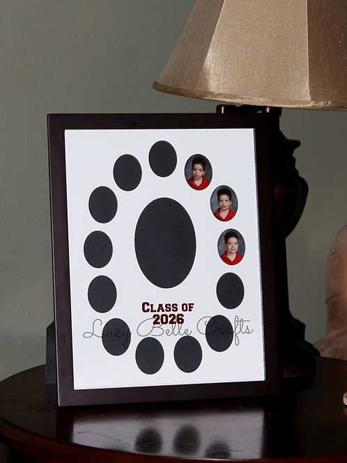 Yearly School Picture Photo Mat for 12x16 Frame