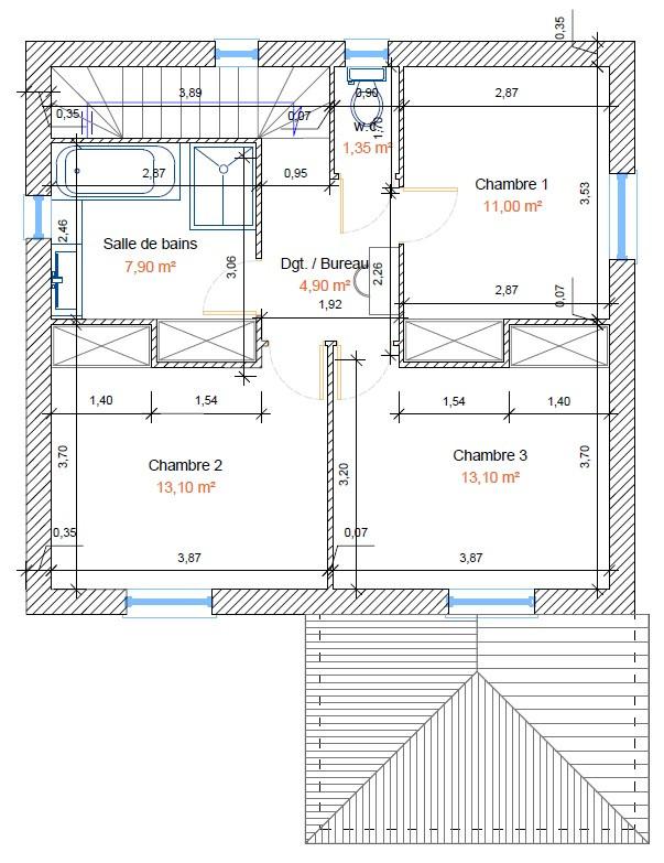 Plan Villa Grasse