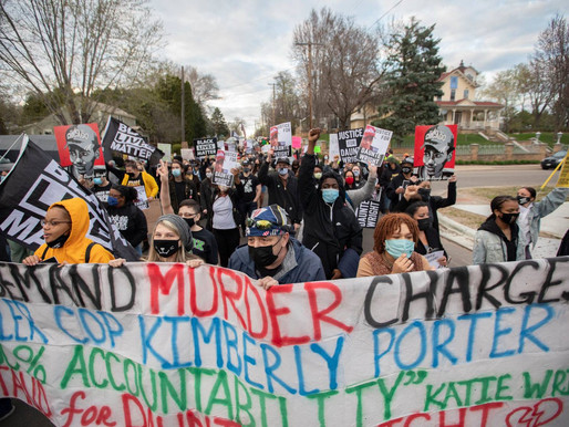 [Photos] April 17: Action demanding murder charges for police officer who murdered Daunte Wright