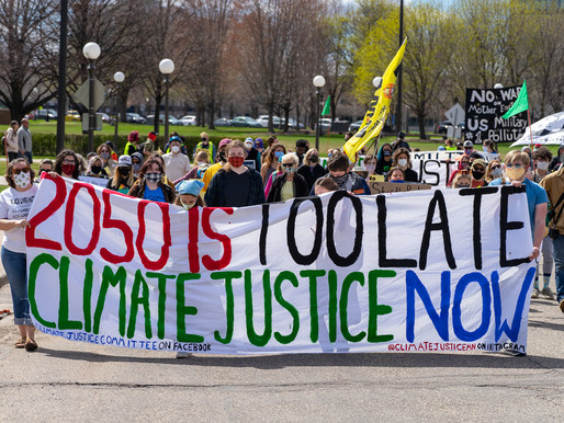 [Photos] April 17: Climate Justice Earth Day Protest at Minnesota Capitol