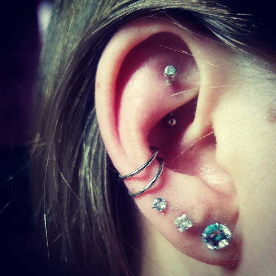 Rook, Double Conch, Tripple Lobe