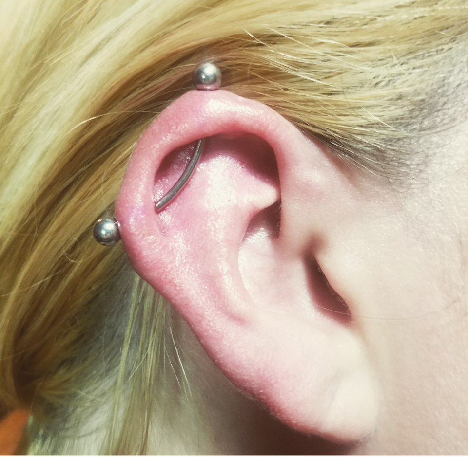 Industrial With Curved Barbell