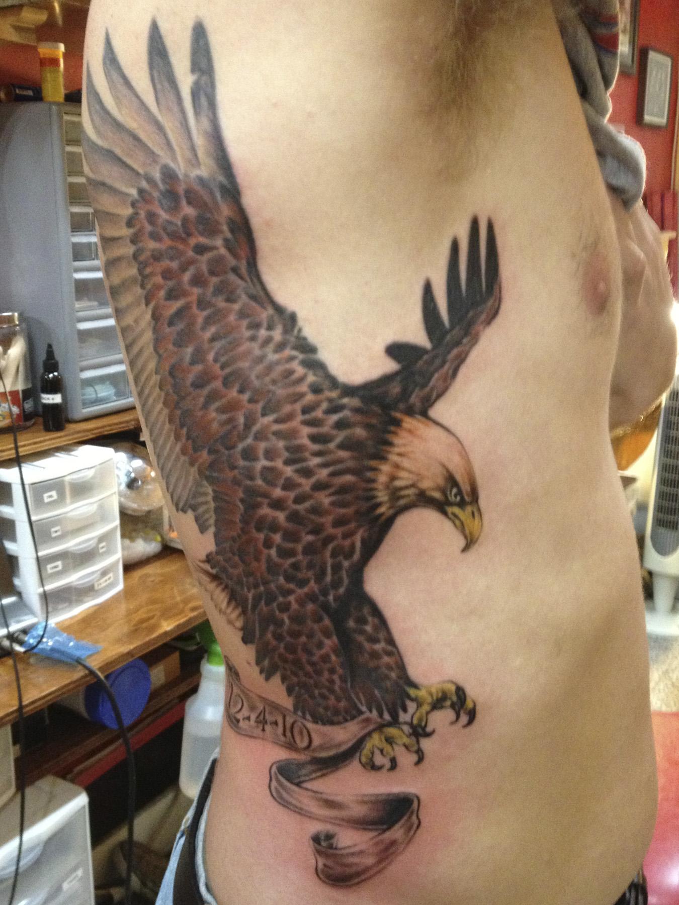 eagle on ribs
