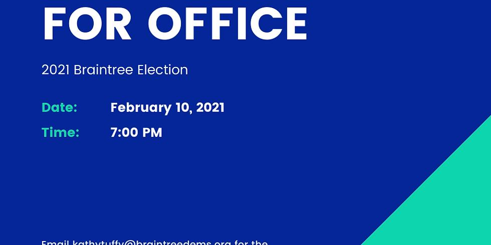 February Braintree Dems Meeting