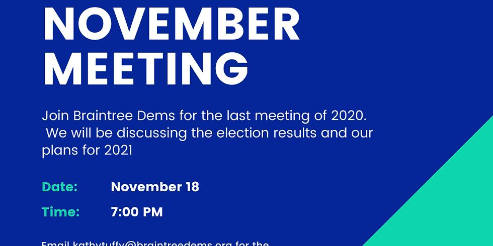November Braintree Dems Meeting