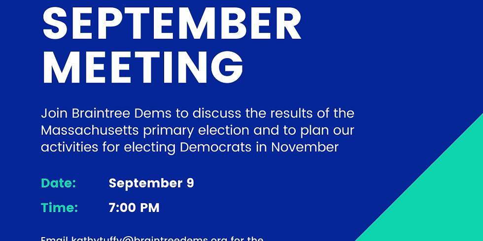 September Braintree Dems Meeting