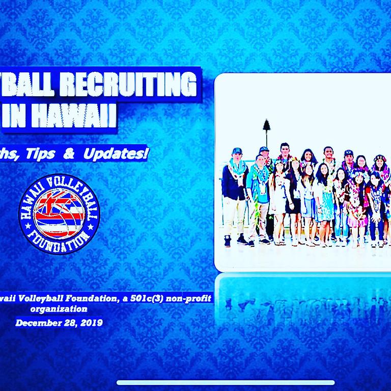 Myths, Tips & Updates: a Volleyball Recruiting Seminar