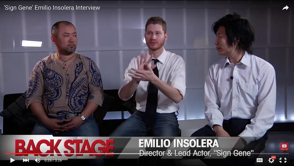 BACKSTAGE-interview, Emilio-Insolera, director, deaf-actor, Sign-Gene, movie