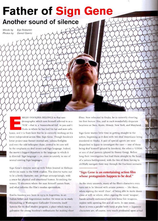 Tokyo-journal, Emilio-Insolera, deaf-actor,