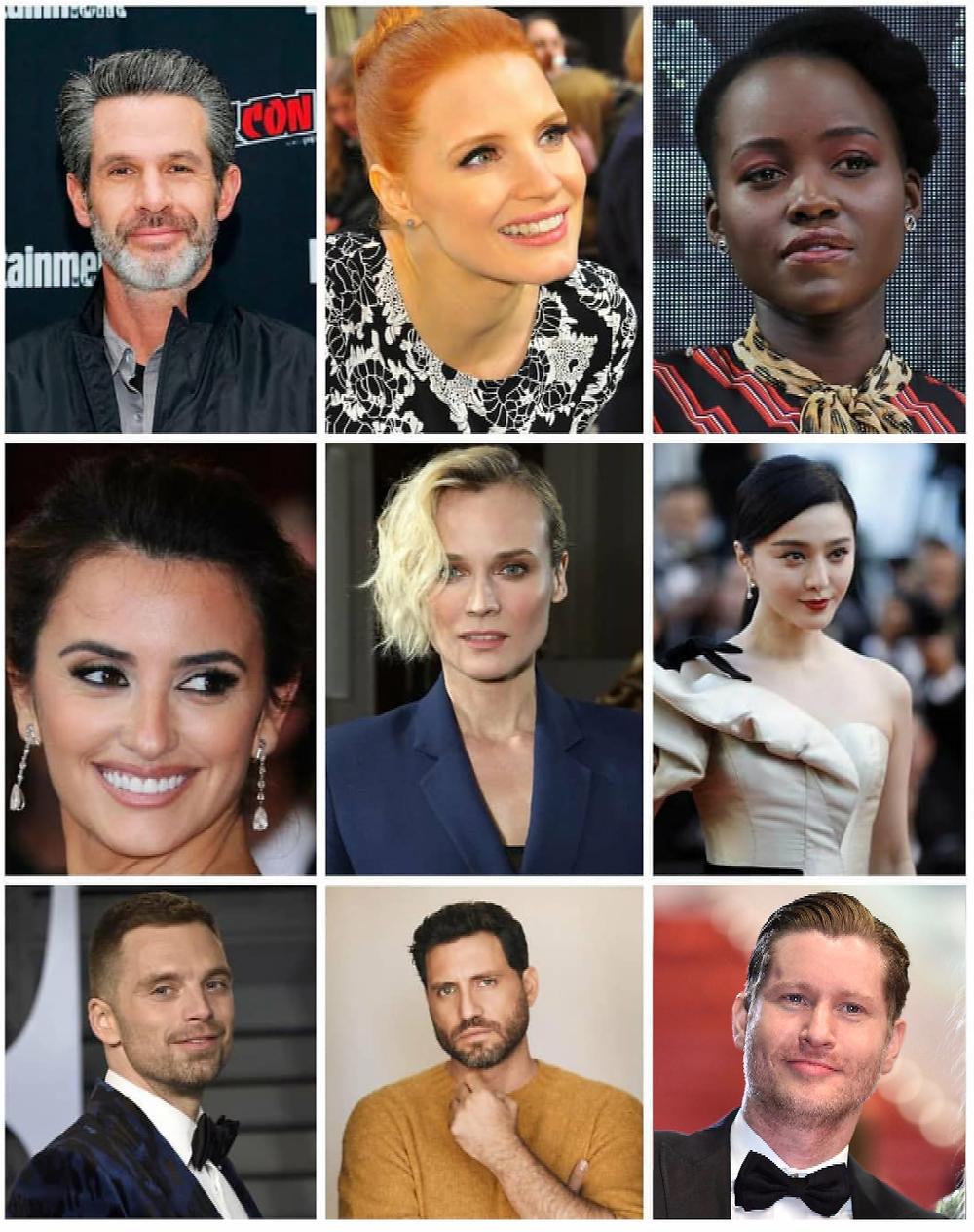 Simon Kinberg, Jessica Chastain, Lupita Nyong'o, Penelope Cruz, Diane Kruger, Bingbing Fan, Sebastian Stan, Edgar Ramirez and Emilio Insolera.