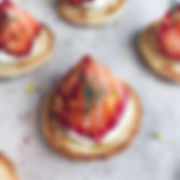 Angie's Kitchen Blinis saumon gravlax walking dinner