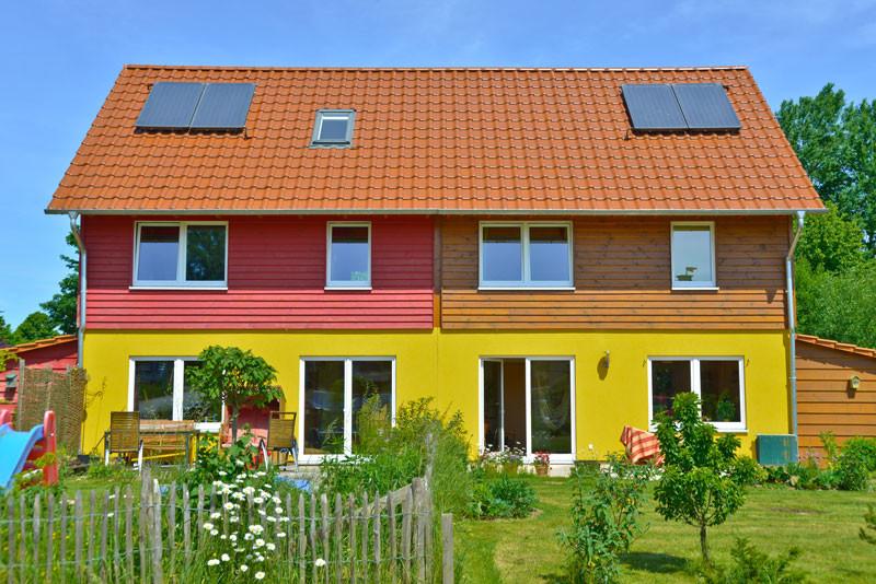 Doppelhaus auf kleinem Raum
