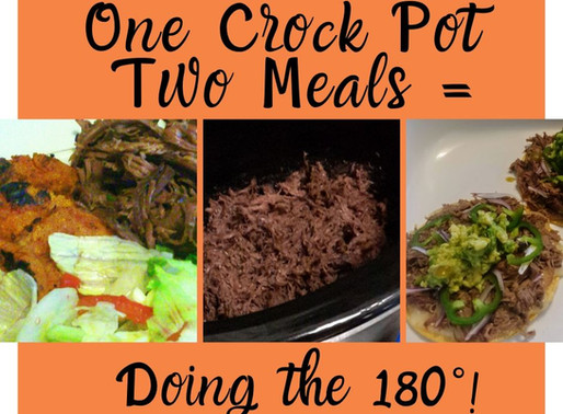 One Crockpot = Two Meals: Chipotle Shredded Beef Base