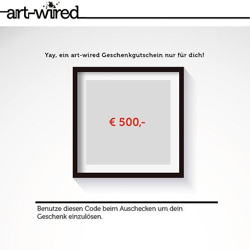 Geschenkgutschein €500,-
