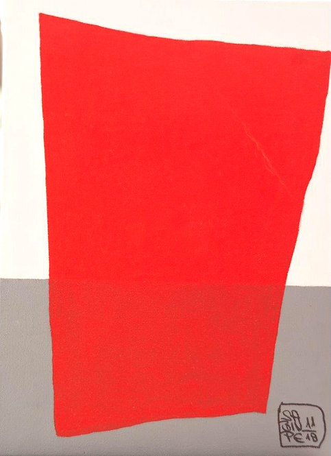 Abstract red shape