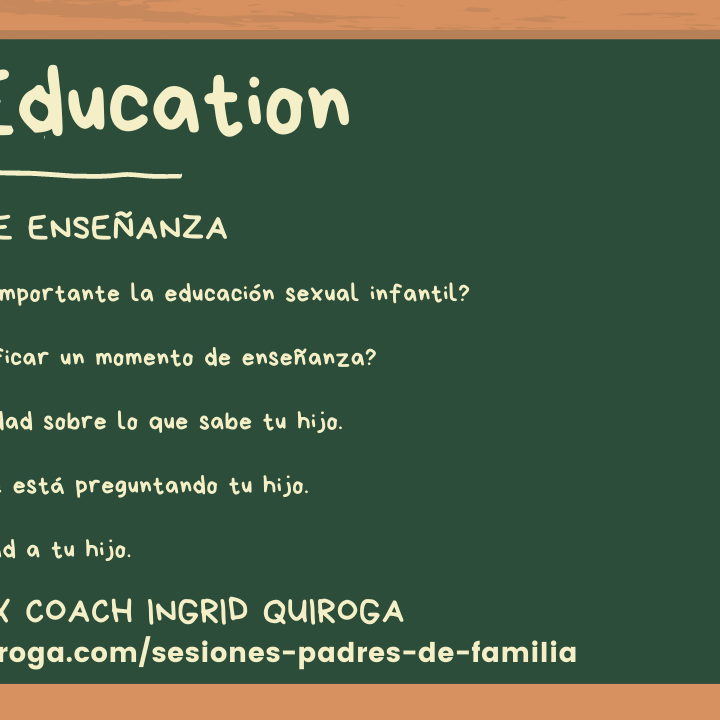 Educación Sexual Infantil: Momentos de Enseñanza
