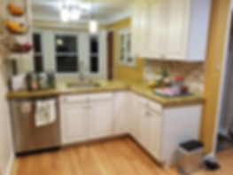 View of the countertops and backsplash.j