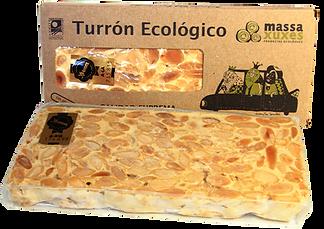 Turrón ecológico de Alicante massaxuxes