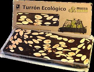 Turrón ecológico de chocolate massaxuxes