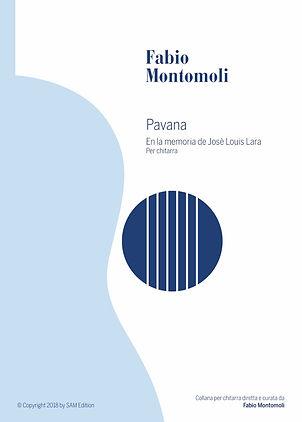 PDF sheet music by Fabio Montomoli : Pavana ( en lamemoria de Josè Luis Lara)