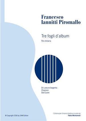 PDF sheet music by Francesco Iannitti: Tre fogli d'album