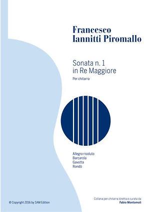 PDF sheet music by Francesco Iannitti: Sonata n.1