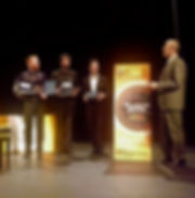 Fabio Montomoli rewards the winners of the Mantovani International guitar conpetition