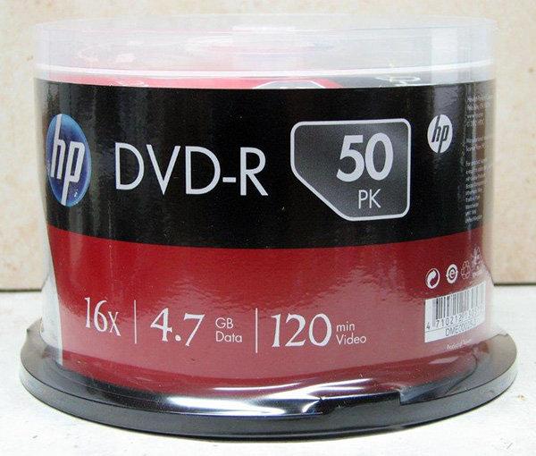 מארז 50 יחידות DVD HP בגליל