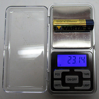 משקל דיגיטלי - ניתן לשקול עד 200 גרם בדיוק של 0.01 גרם