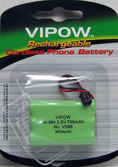 סוללה V088 3xAAA 700mAh פלג שחור - VIPOW