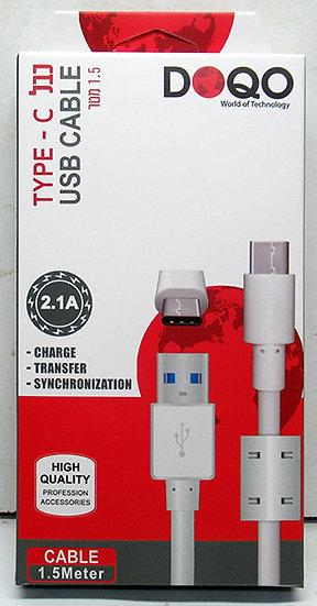 כבל USB TYPE-C איכותי באורך 1.5 מטר