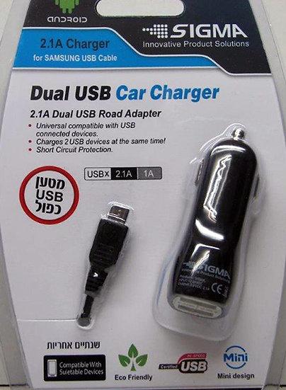 מטען כפול 2A מיקרו USB לרכב