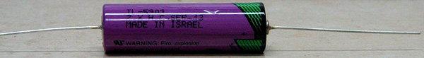 סוללת ליטיום AA + חוטי הלחמה - תדיראן 5903