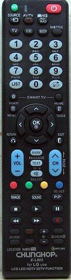 שלט תחליפי לטלויזיה LG L905