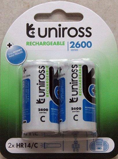 זוג סוללות C-R14 2600mAh - יונירוס