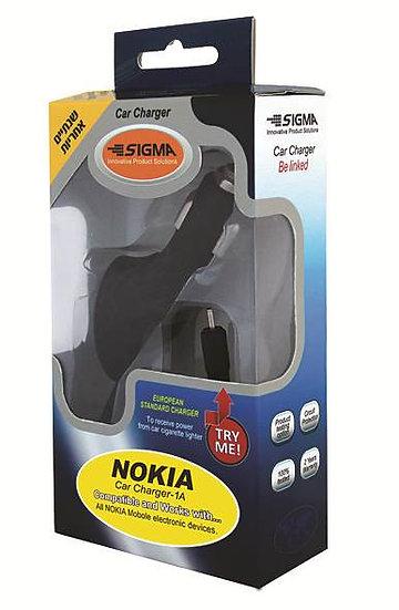 מטען רכב 1A לנוקיה Nokia