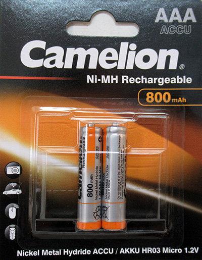 זוג סוללות AAA 800mAh NiMH