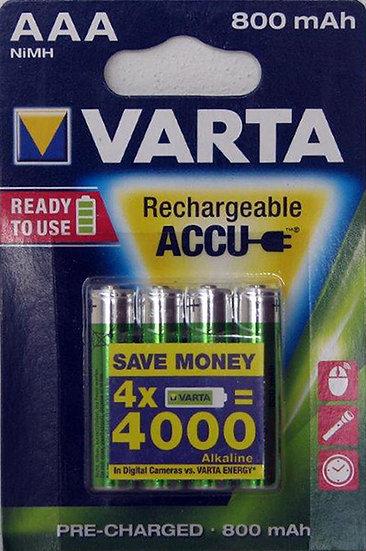 רביעית NiMH AAA800 מוכנה לשימוש - ורטא