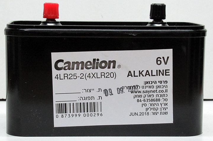 אלקליין קמייון ברגים 6V 4xLR20