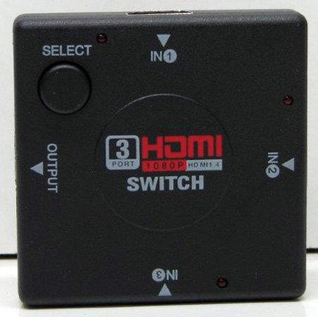 מפצל HDMI ידני מ 3 כניסות ליציאה אחת