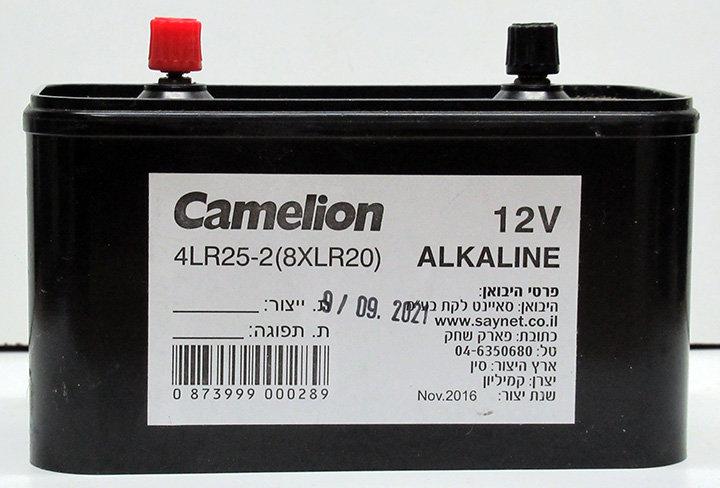 אלקליין קמיליון ברגים 12V 8xLR20