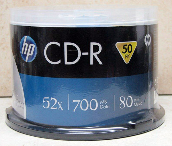 מארז 50 יחידות CDR HP בגליל