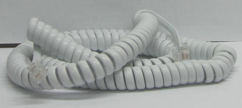 כבל טלפון מסולסל לבן לשפופרת 5 מטר