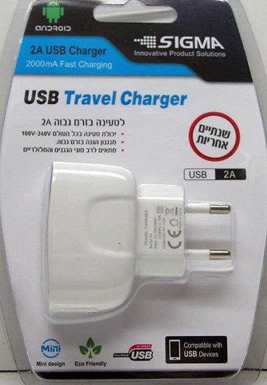 מטען ביתי 2A שקע USB בבליסטר