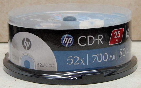 מארז 25 יחידות CDR HP בגליל