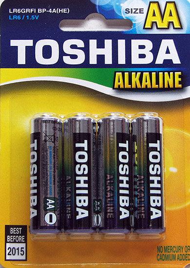 רביעית R6 AA אלקליין - טושיבה